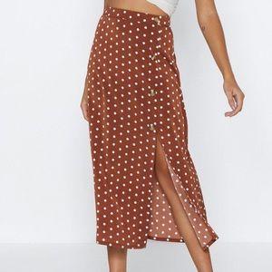 Dresses & Skirts - NEW Pretty Polka Dot Midi Skirt Size 8